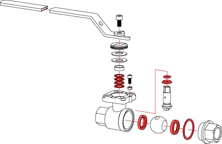 26 Series Ball Valve Seal Repair Kits