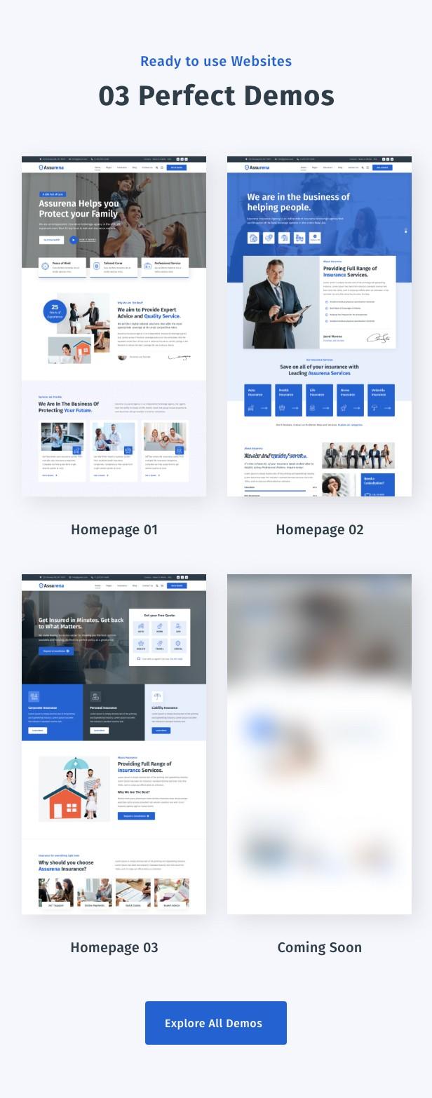 Assurena - Insurance Agency WordPress Theme 3