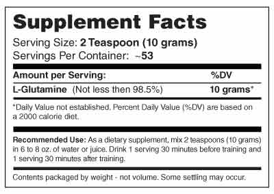 GL3-525 Grams Supplement Facts