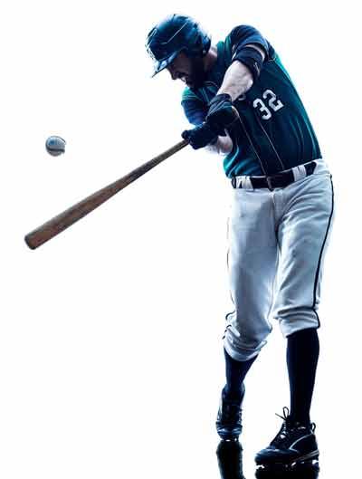 Baseball Player Hitting