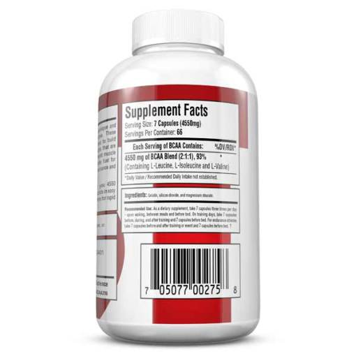 BCAA 4500 Best Branched Chain Amino Acid Supplement - Supplement Facts