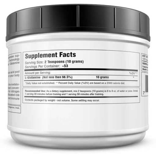 Best Glutamine Supplement - GL3 L-Glutamine 525 Grams - Supplement Facts