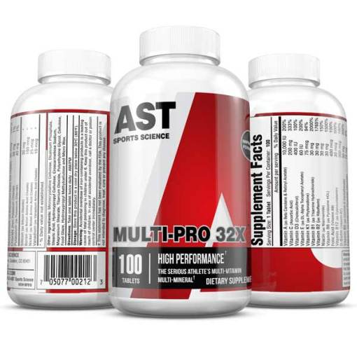 Vitamins - Best Multi Vitamin - MultiPro 32X - The Serious Athlete's Multi-Vitamin 3-Up