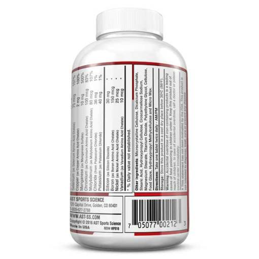 Vitamins - Best Multi Vitamin - MultiPro 32X - The Serious Athlete's Multi-Vitamin - Information Panel