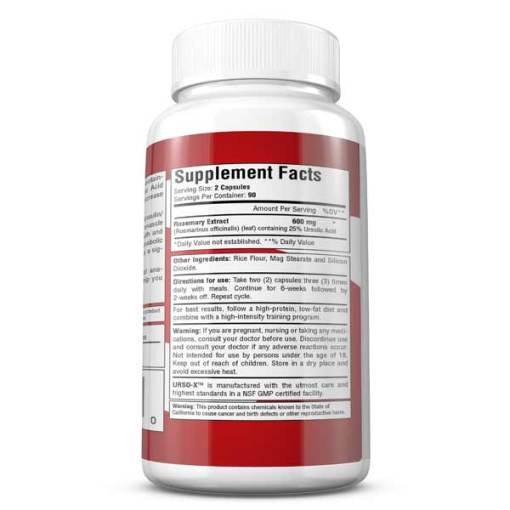 Urso-X High-Performance Ursolic Acid - Supplement Facts