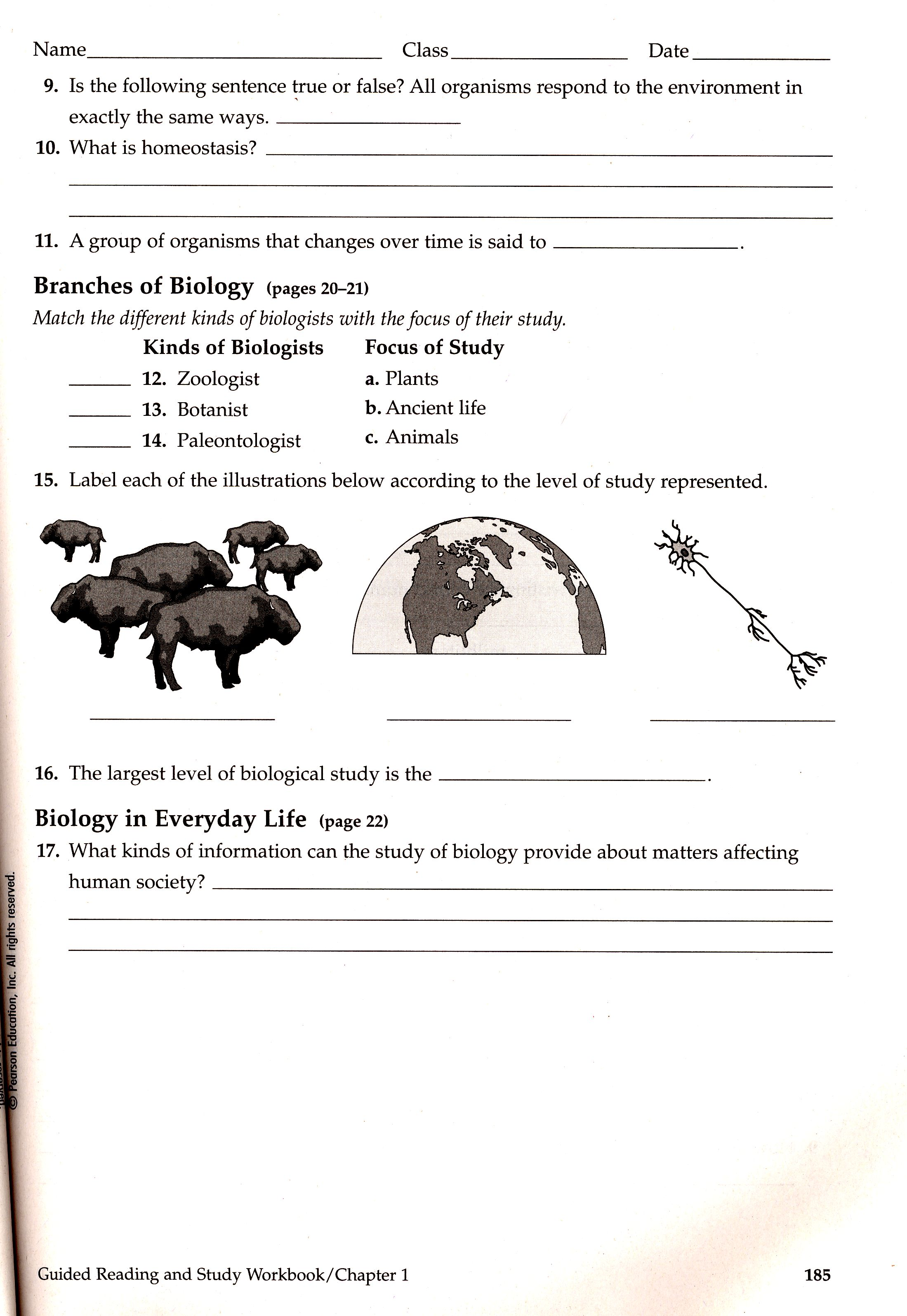 Unit I Intro To Biology And Animal Behavior