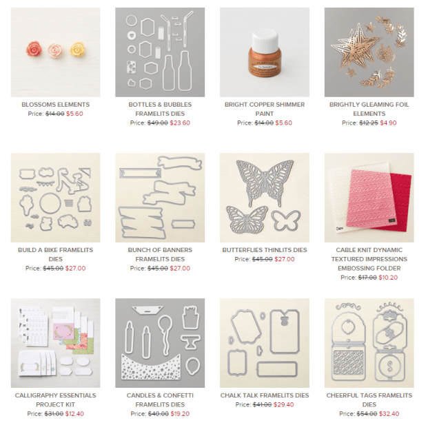 stampin up clearance rack updated
