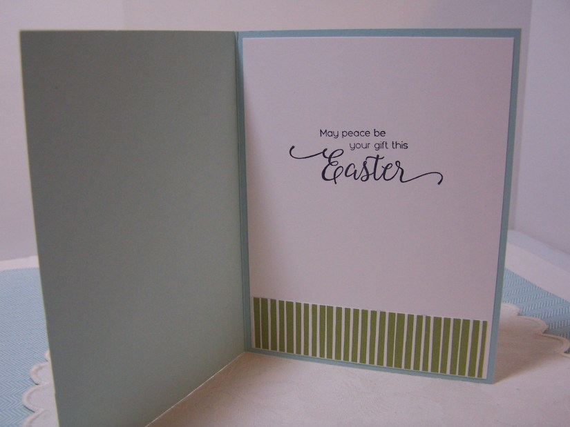 Inside of Easter Card