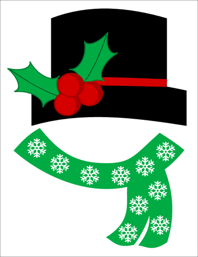 snowman hat and scarf template