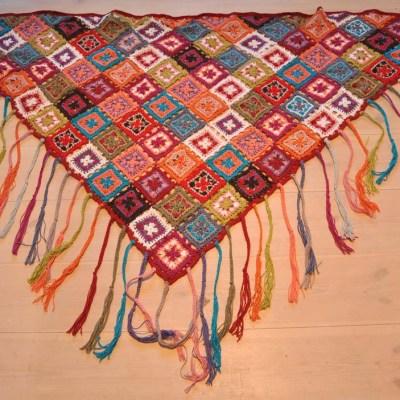 Min sjal är färdig!