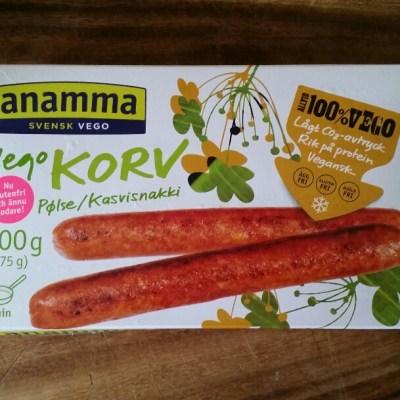 Jag testar vegetarisk korv