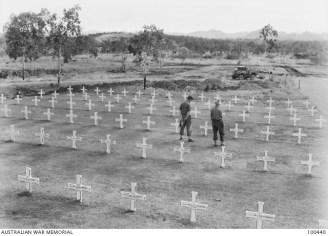 100440 1944 graves of Australian and Papuan soldiers