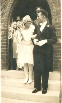 Wedding - My grand parents of Mollie Joy and Russ Callcott in 1929