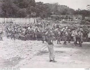 120486 Japanese POWs Sandakan waiting to board ship