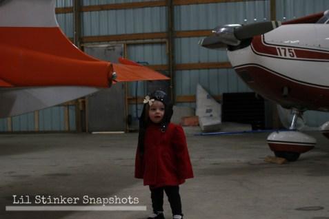 Exploring the hangar