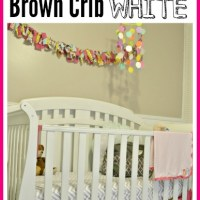 How to Spray Paint a Brown Crib White