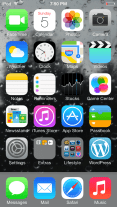 """A Preview of the Wallpaper """"Raindrops on the Glass"""" on the 5th Generation iPod touch"""