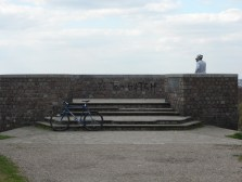 A professional photographer takes photos at the viewpoint of Shirley Hills