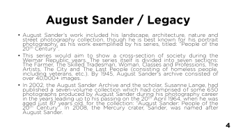 Page 4 - August Sander / Legacy