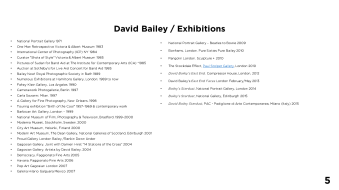 Page 5 - David Bailey / Exhibitions