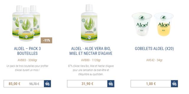 Shop Aloel Gel Aloe Vera a Boire Frederic M.