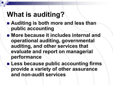 "What is ""audit"""