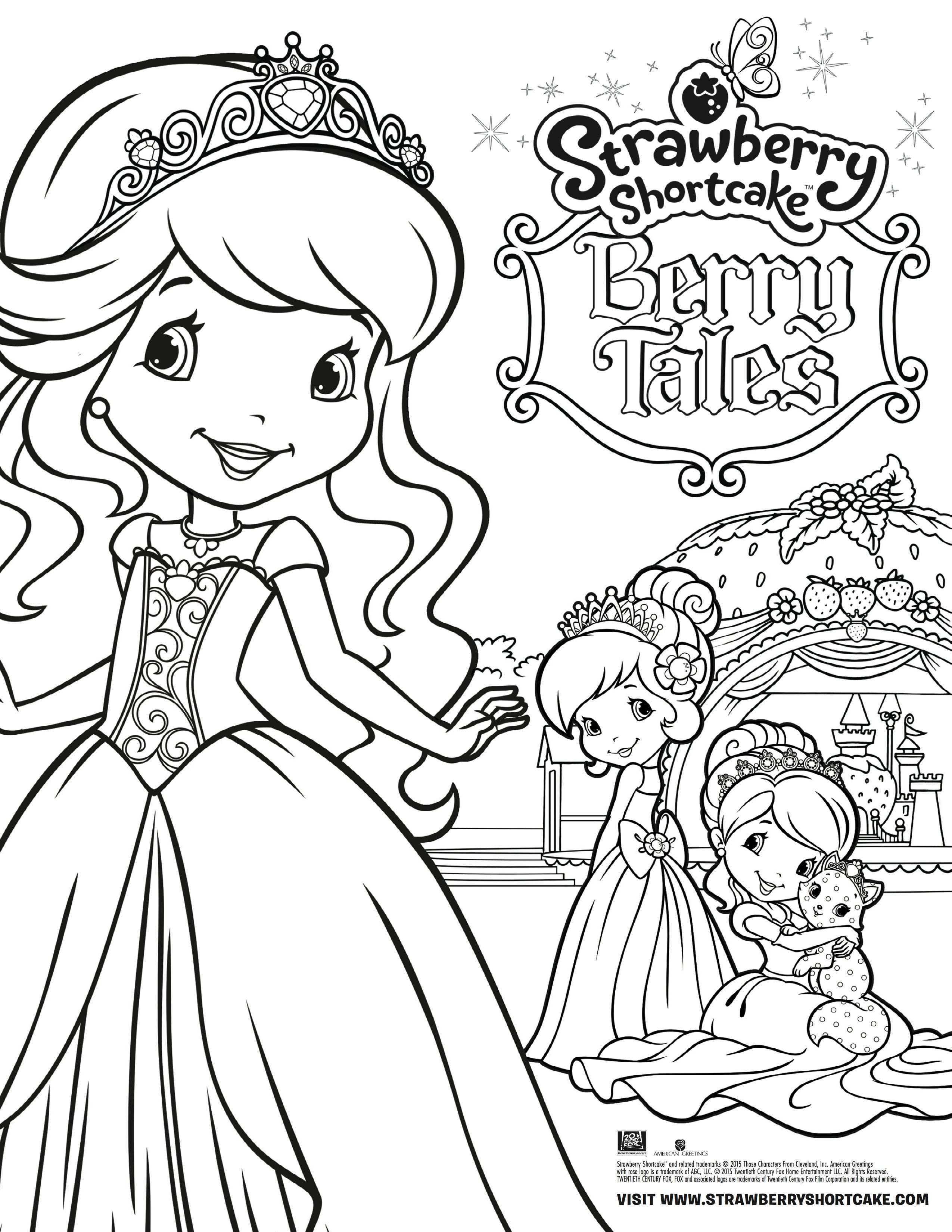 Strawberry Shortcake: Berry Tales Takes the Stage Coloring