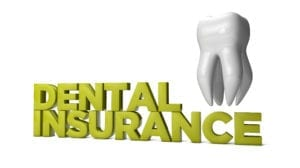 """Dental insurance billing takes attention to detail to avoid denials. The words """"dental insurance"""" sit on a white background next to a molar/"""