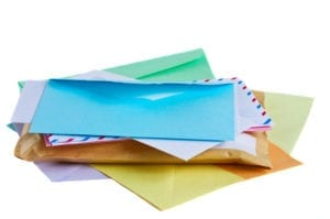 Different color and kinds of mailing envelopes should be used when sending the various dental office collection letters