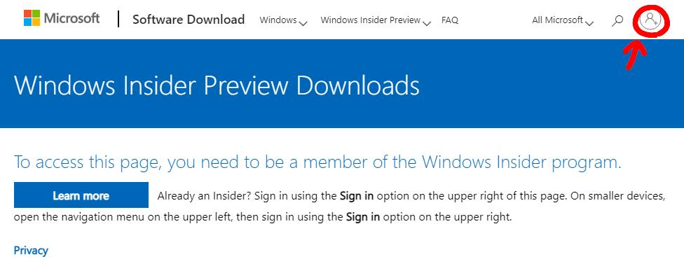 Microsoftアカウントへサインインします