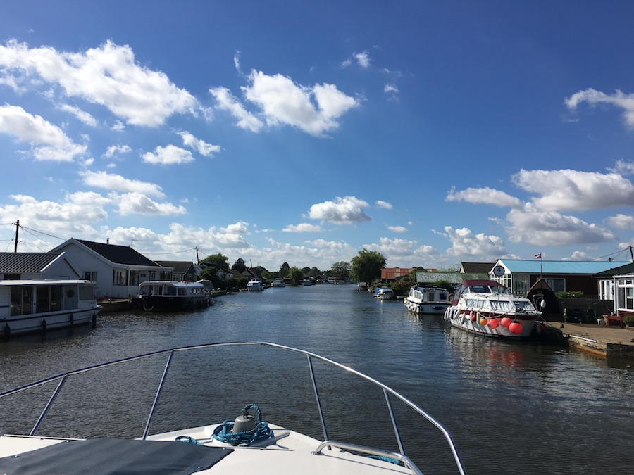 Boating on the Norfolk Broads