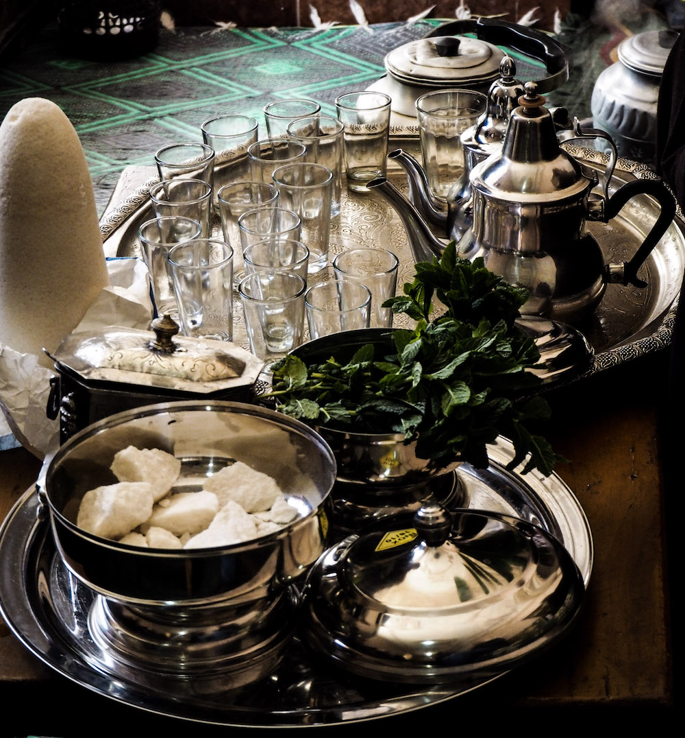 Foodies Guide to Marrakech , Mint Tea in Berber House