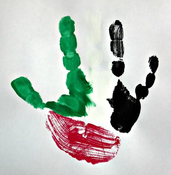 flag hand