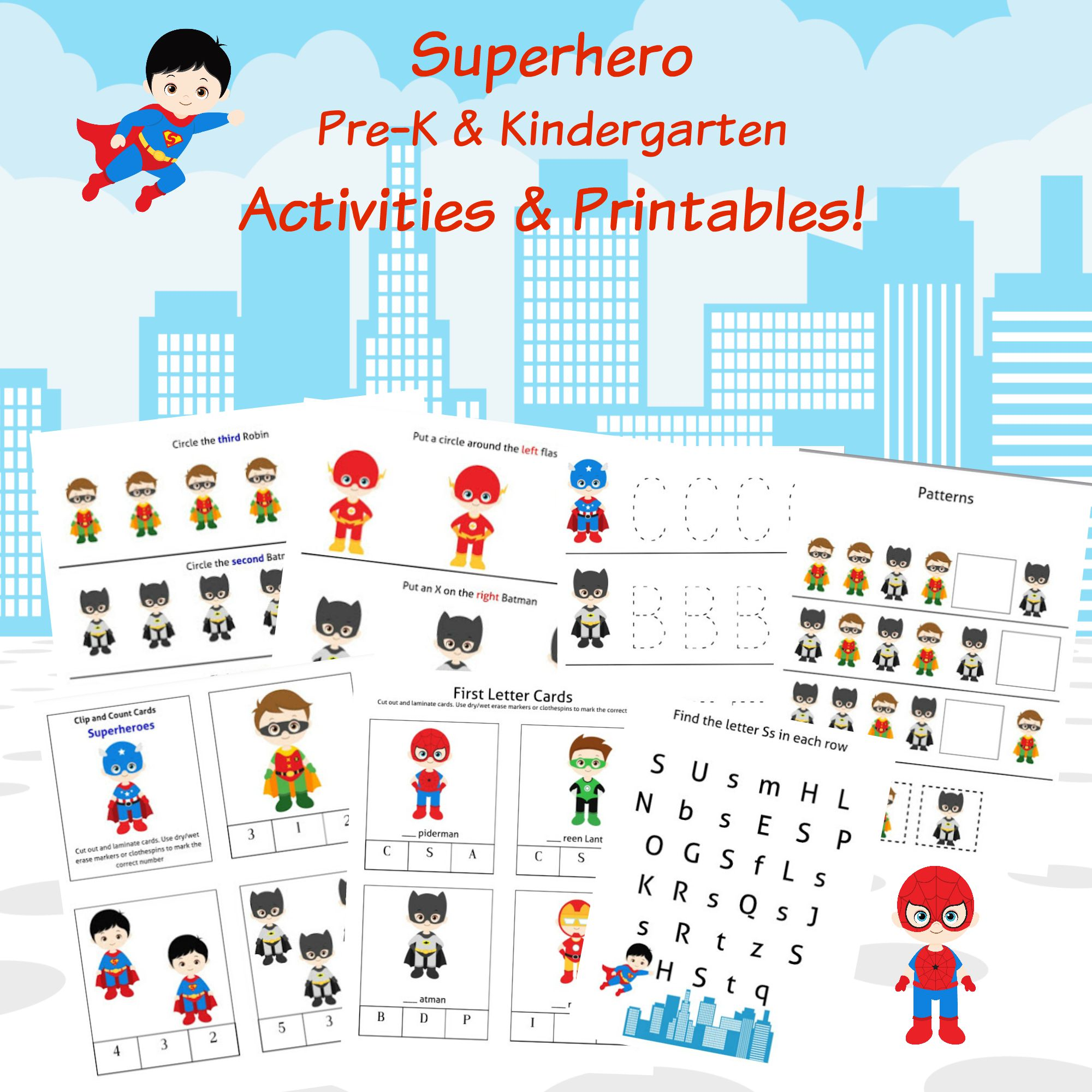 Superhero Reading Worksheet