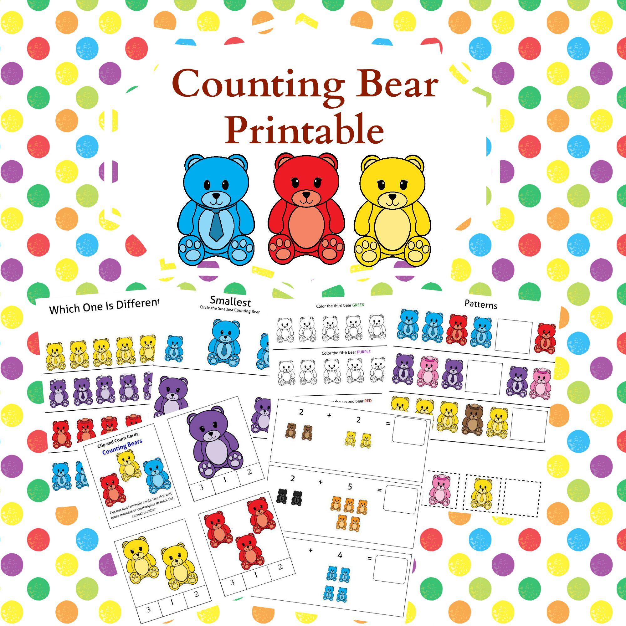 45 Page Counting Bears Printable