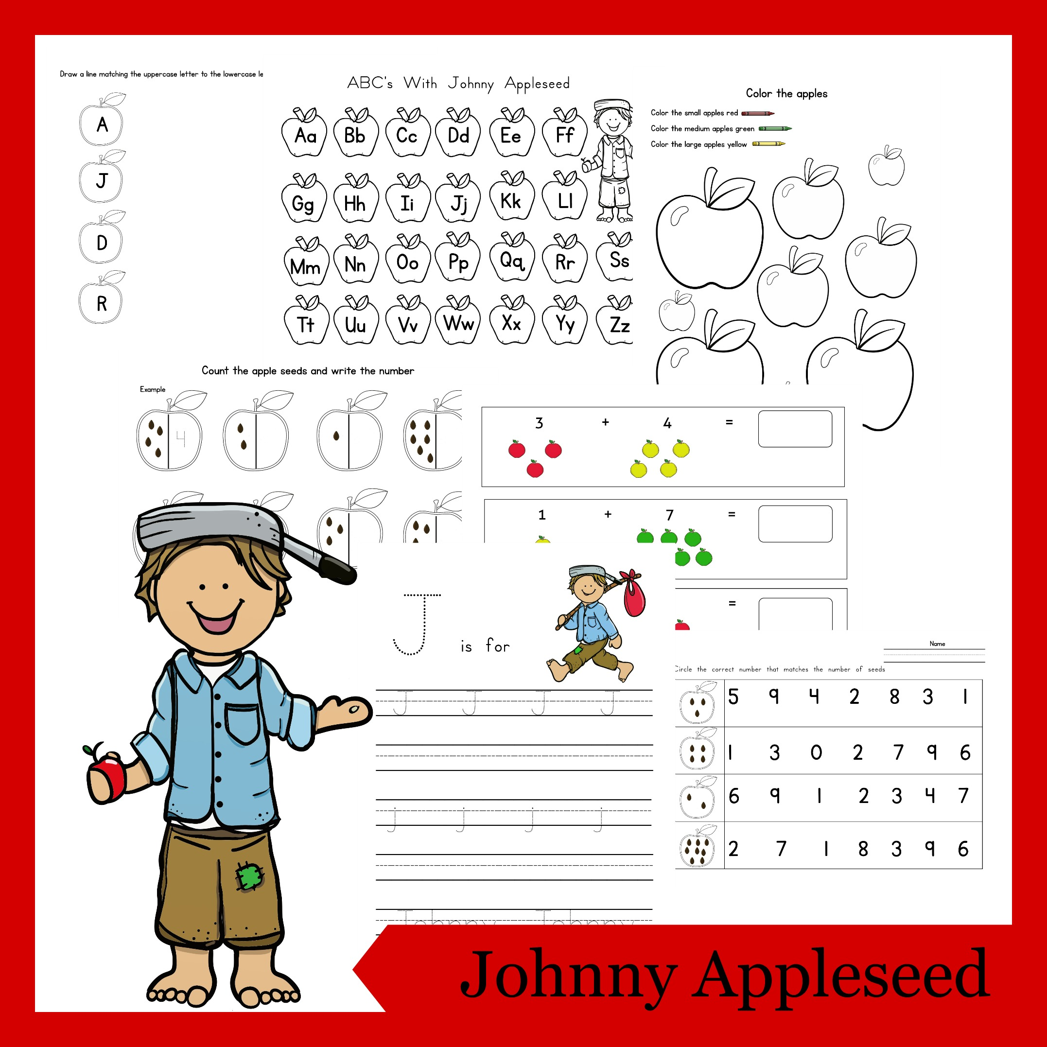 picture relating to Johnny Appleseed Printable Story titled Johnny Appleseed Printable