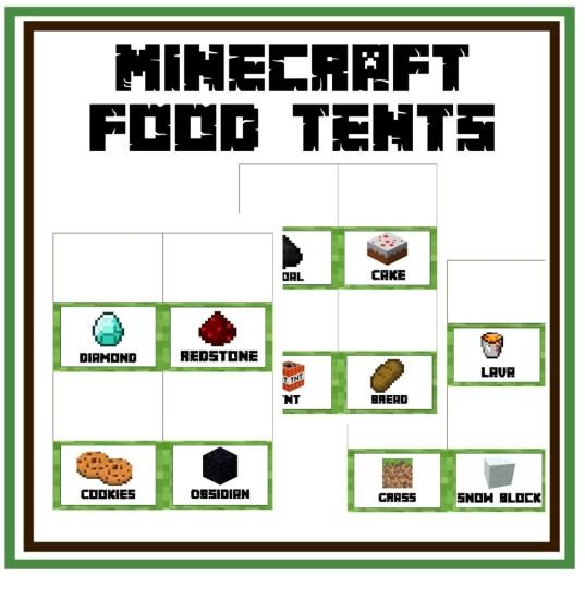 Minecraft Food Tents