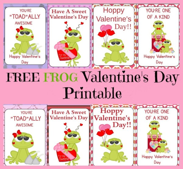 FREE FROG VALENTINE DAY PRINTABLE