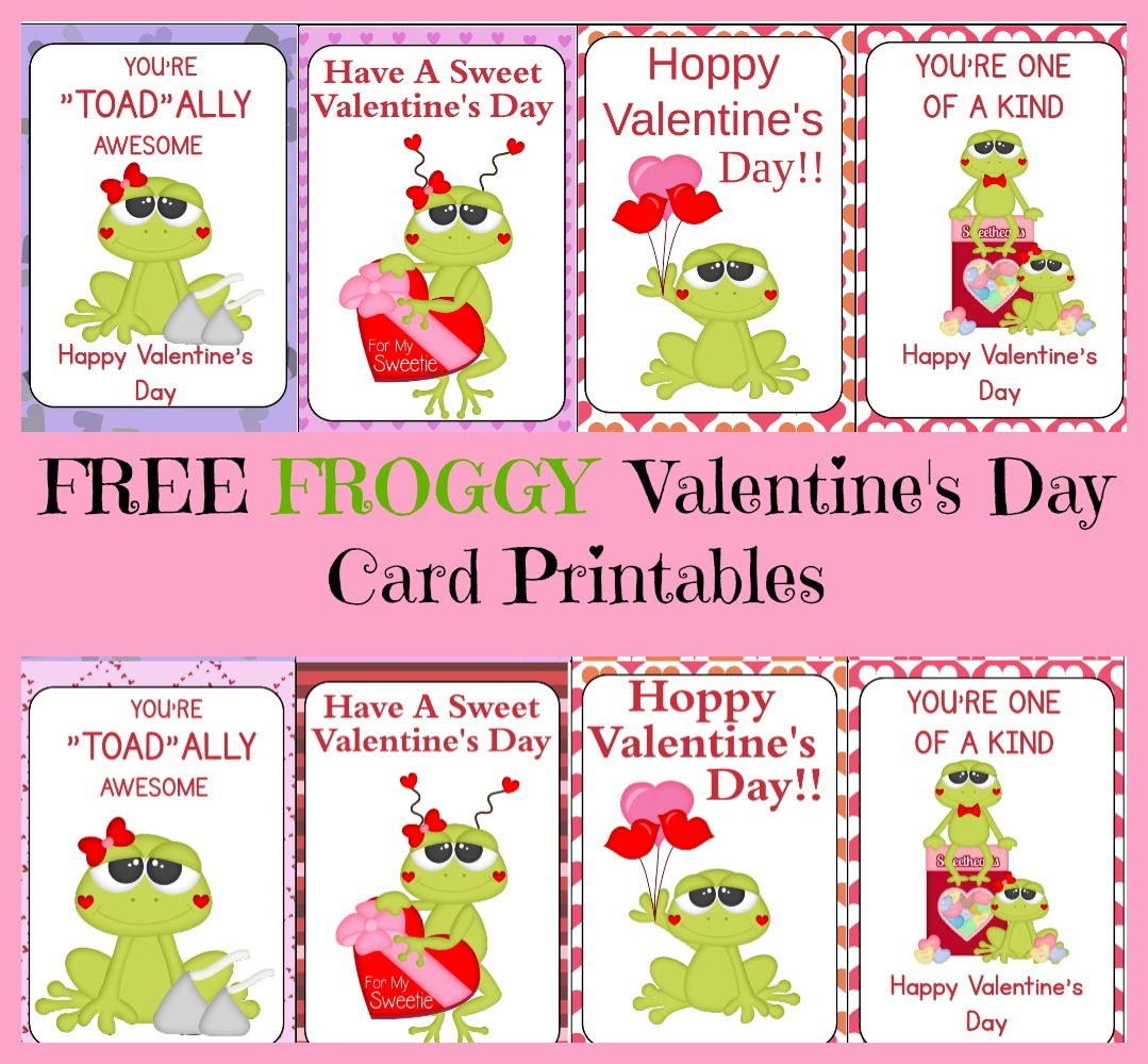 Free Frog Valentine S Day Card Printable