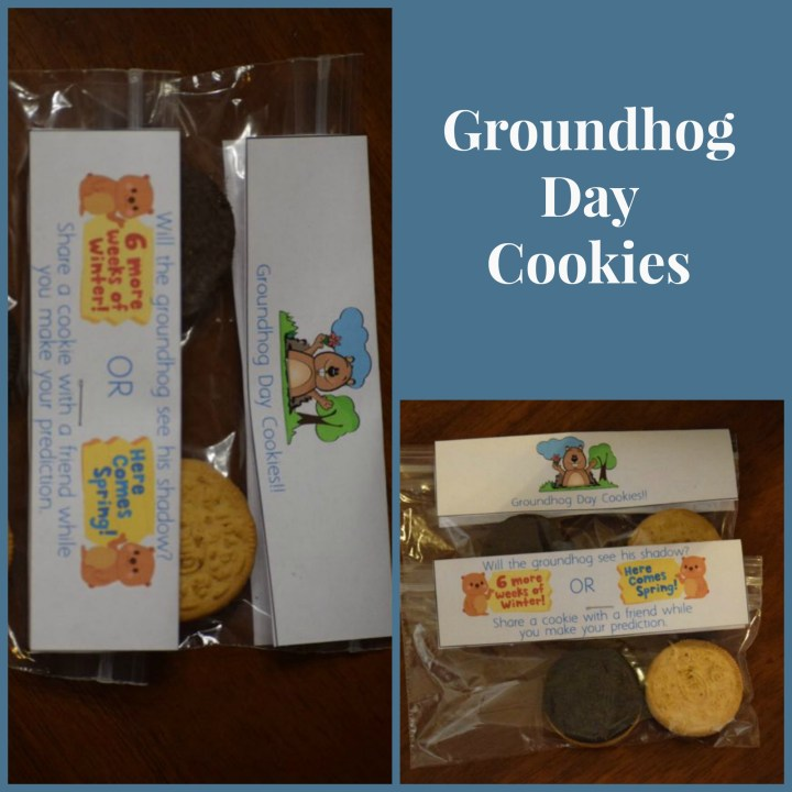 groundhog day cookies