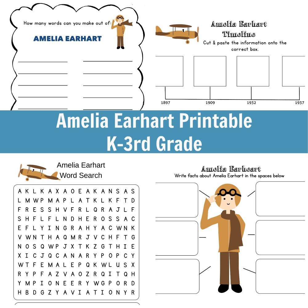 medium resolution of I Am Amelia Earhart Unit Study