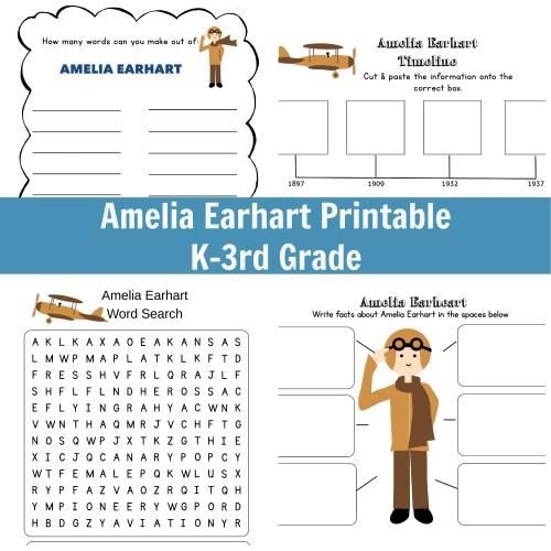 small resolution of I Am Amelia Earhart Unit Study