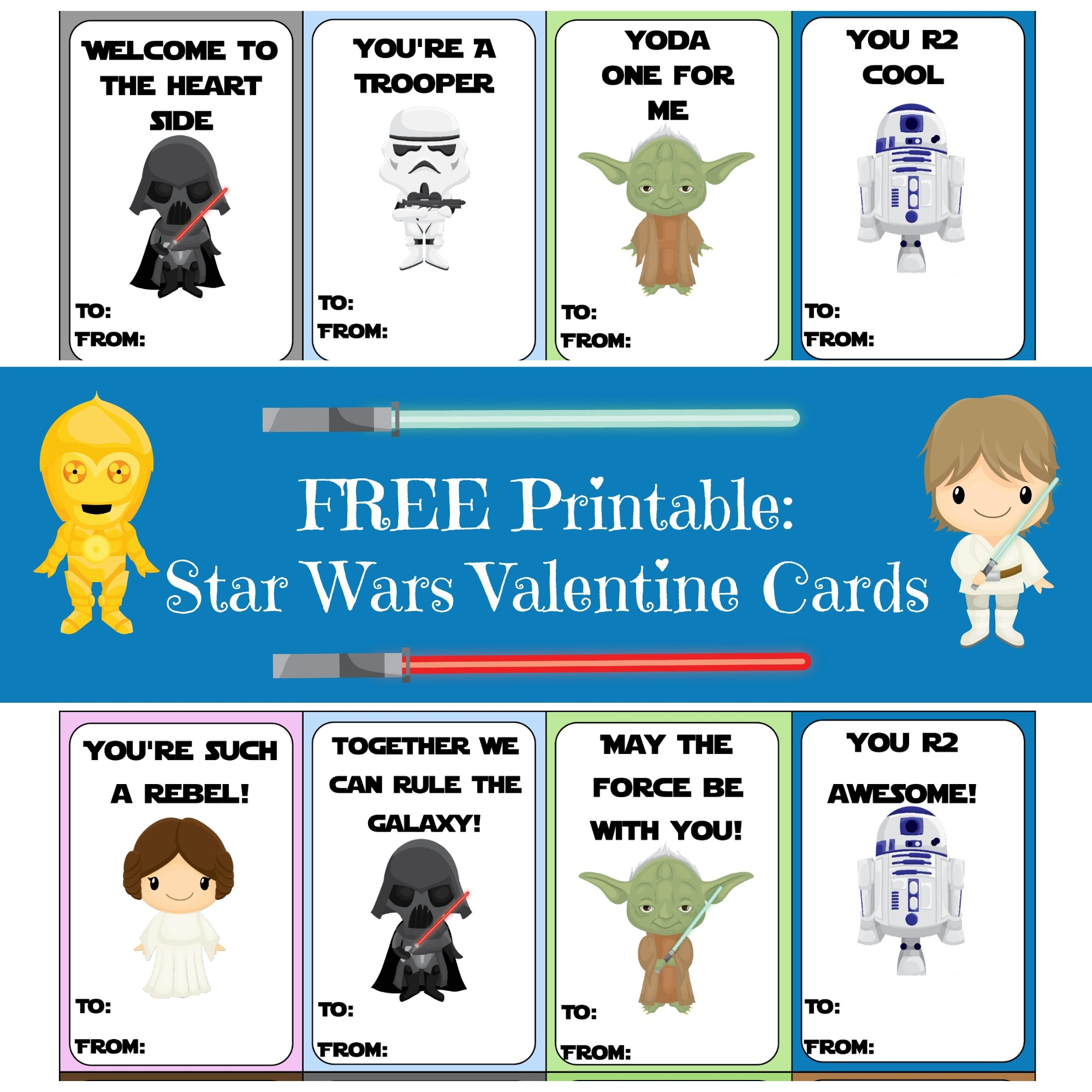 photo regarding Star Wars Bookmark Printable referred to as Valentine Card Spherical-Up As They Develop Up