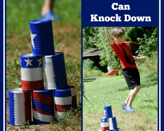 Red, White & Blue Can Knock Down