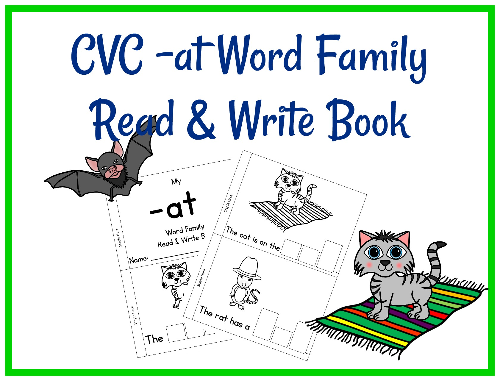 Cvc At Word Family Read Amp Write Book