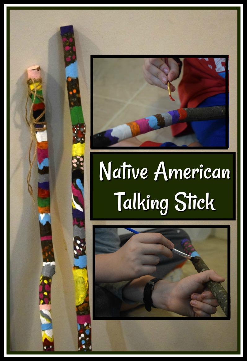 Native American Talking Stick Activity