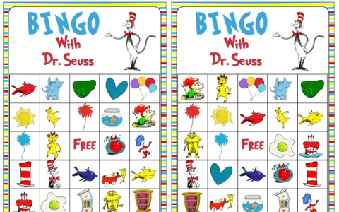 Free Dr. Seuss Themed BINGO Printable
