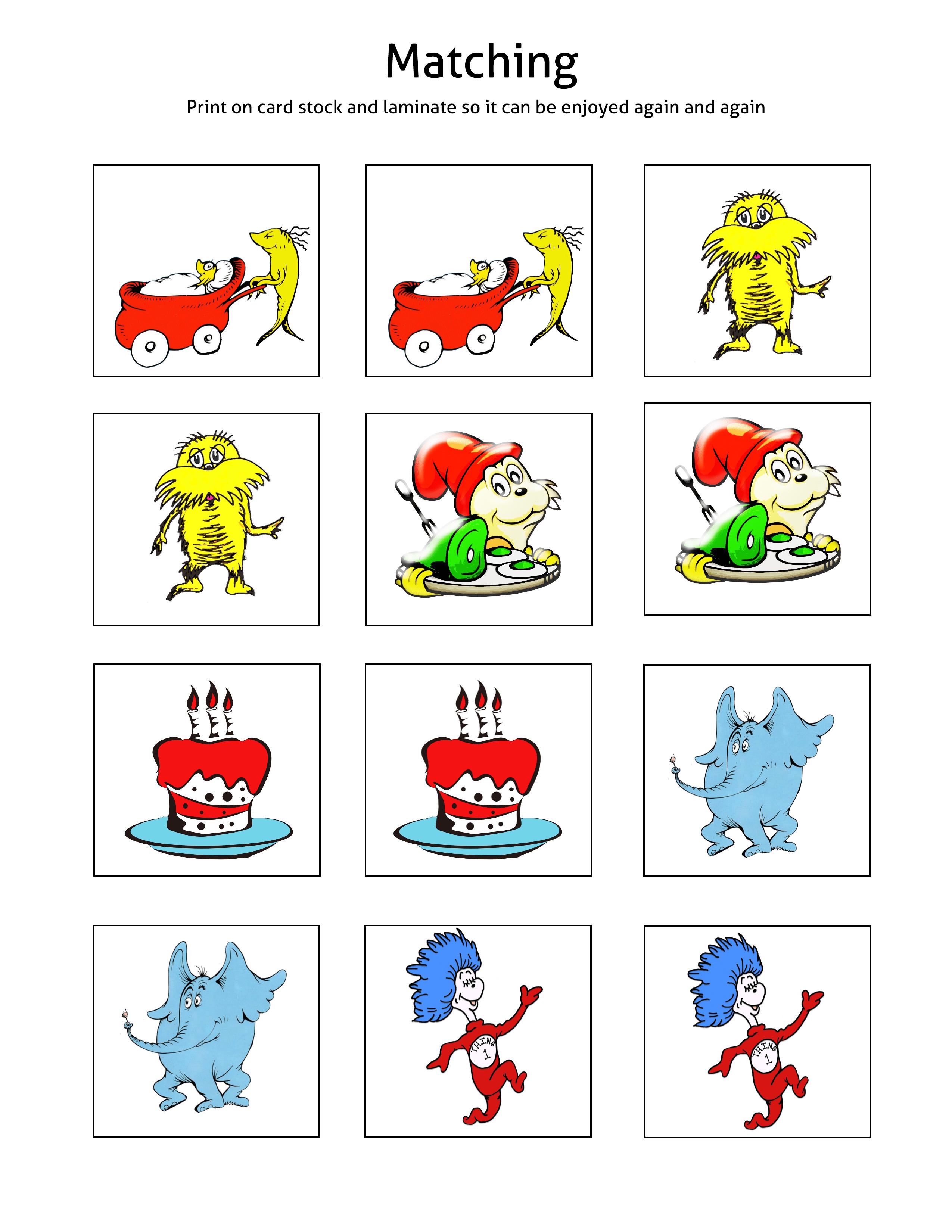 Free 32 Page Dr. Seuss Printable Pack for Pre K thru 1st Grade