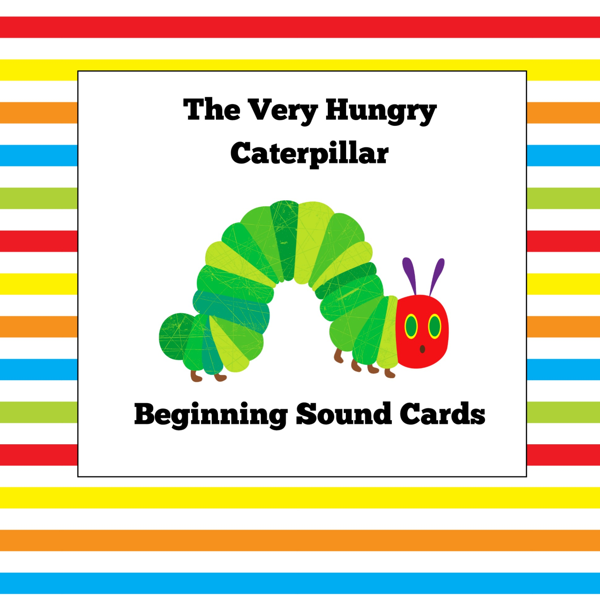photo about The Very Hungry Caterpillar Story Printable named The Fairly Hungry Caterpillar Starting Stable Playing cards