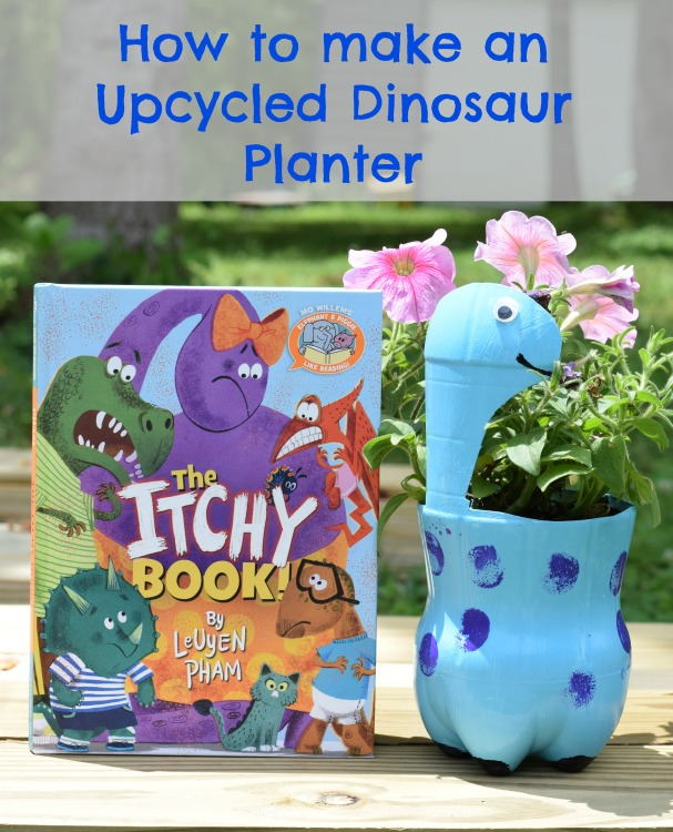 DIY Upcycle Dinosaur Planter